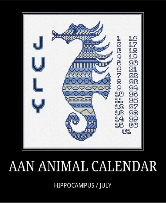 click here to view larger image of July - Seahorse Calendar (chart)