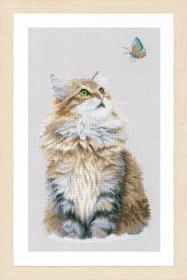 click here to view larger image of Forest Cat (counted cross stitch kit)