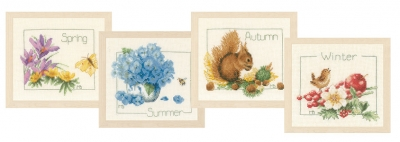 click here to view larger image of 4 Seasons (set of 4) (counted cross stitch kit)