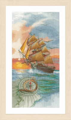 click here to view larger image of On A Discovery Travel (counted cross stitch kit)