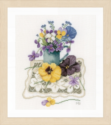 click here to view larger image of Violets (counted cross stitch kit)