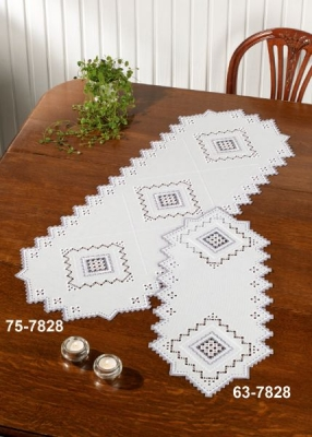click here to view larger image of Grey Hardanger Table Runner (Lower right) (counted cross stitch kit)