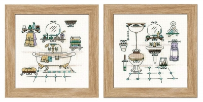 click here to view larger image of Bathroom Interior (2 designs) (counted cross stitch kit)