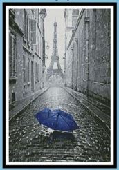 click here to view larger image of Blue Umbrella in Paris (chart)