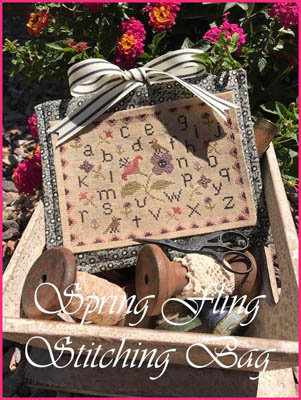click here to view larger image of Spring Fling Stitching Bag (chart)