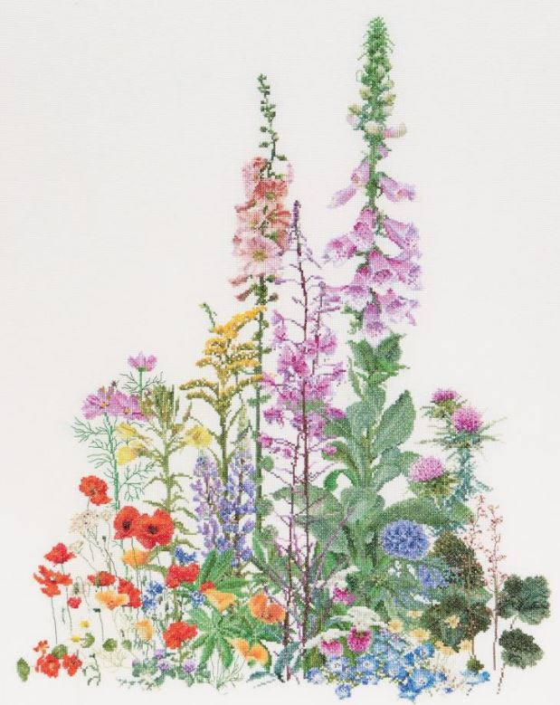 click here to view larger image of American Wild Flowers on Aida (16ct) (counted cross stitch kit)