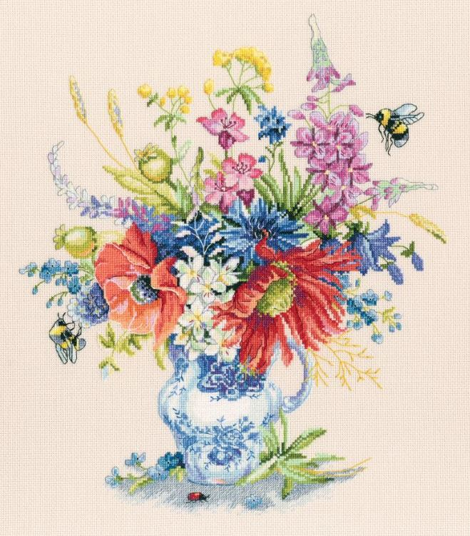 click here to view larger image of Summer in a Bunch (counted cross stitch kit)