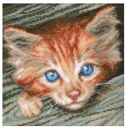 click here to view larger image of Fluffy Observer (counted cross stitch kit)