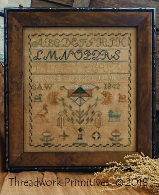 click here to view larger image of 1842 Saw Sampler (chart)