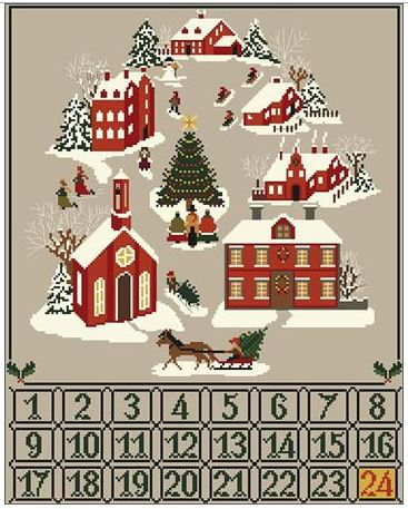 click here to view larger image of Christmas Advent Calendar (chart)