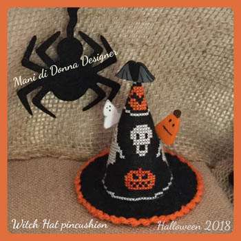 click here to view larger image of Witch Hat Pincushion (chart)