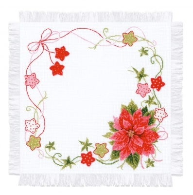 click here to view larger image of Christmas Table Topper (counted cross stitch kit)