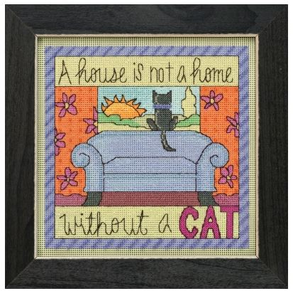 click here to view larger image of Without A Cat (counted cross stitch kit)