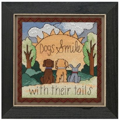 click here to view larger image of Dogs Smile (counted cross stitch kit)