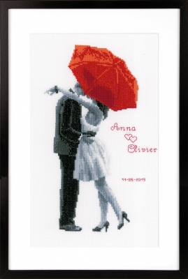 click here to view larger image of Under My Red Umbrella (counted cross stitch kit)