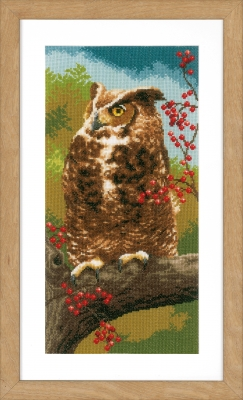 click here to view larger image of Owl In Autumn (counted cross stitch kit)