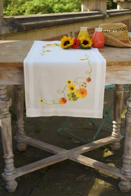 click here to view larger image of Sunflowers Table Runner (counted cross stitch kit)
