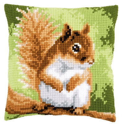 click here to view larger image of Squirrel Cushion (counted cross stitch kit)