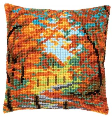 click here to view larger image of Autumn Landscape Cushion (counted cross stitch kit)