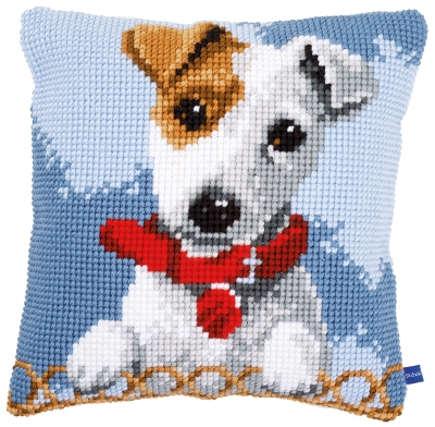 click here to view larger image of Jack Russell Cushion (counted cross stitch kit)