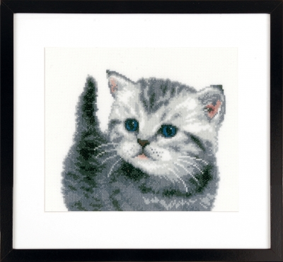 click here to view larger image of Grey Tiger Kitten (counted cross stitch kit)