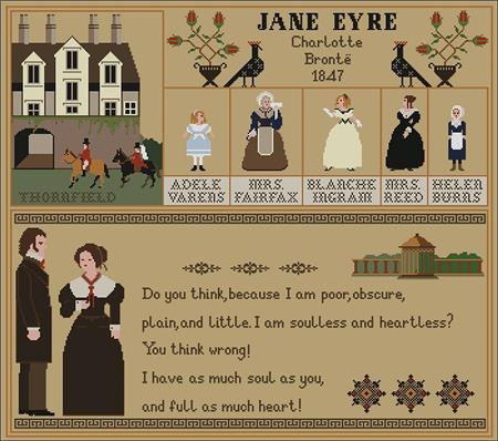 click here to view larger image of Jane Eyre Sampler (chart)