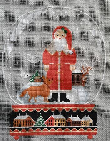 click here to view larger image of Swallow and Santa Snow Globe (chart)