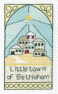 click here to view larger image of Bethlehem - 3pk Christmas Cards (counted cross stitch kit)