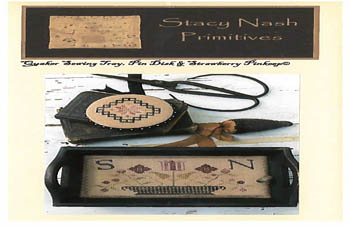 click here to view larger image of Quaker Sewing Tray, Pin Disk &Strawberry Pinkeep (chart)