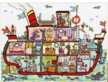 click here to view larger image of Cut Through Cruise Ship (counted cross stitch kit)
