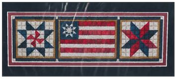 click here to view larger image of Patriotic Trio (counted canvas chart)