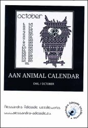 click here to view larger image of AAN Animal Calendar - October Owl (chart)