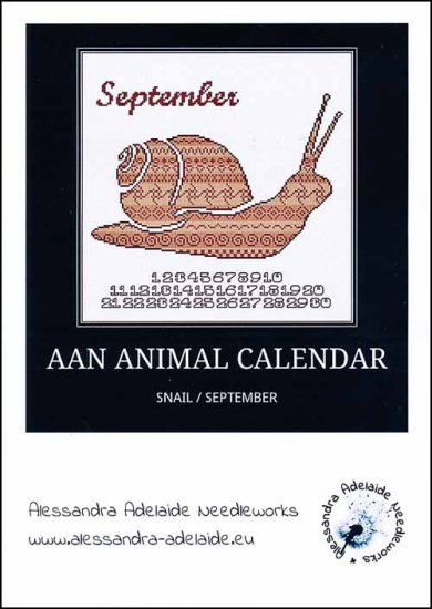 click here to view larger image of AAN Animal Calendar - September Snail (chart)