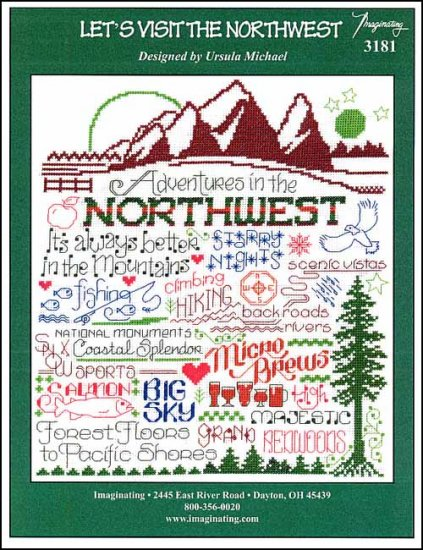 click here to view larger image of Let's Visit The Northwest (chart)