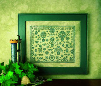 click here to view larger image of Quaker Flowers Sampler (chart)