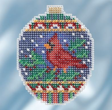 click here to view larger image of Crimson Cardinal (counted cross stitch kit)