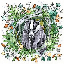 click here to view larger image of Badger - Woodland - 14ct (chart)
