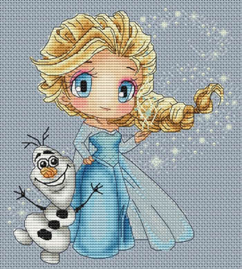 click here to view larger image of Elsa And Olaf (chart)