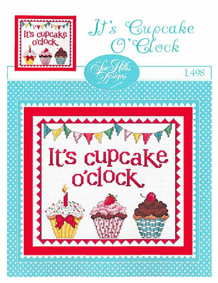 click here to view larger image of It's Cupcake O'Clock (chart)