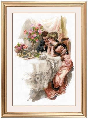 click here to view larger image of First Evening In Their Own Home (counted cross stitch kit)