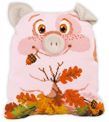 click here to view larger image of Piglet Cushion  (counted cross stitch kit)