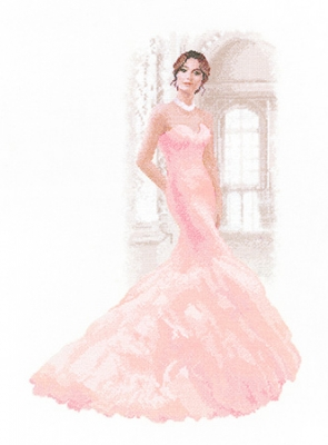click here to view larger image of Martina - Elegance by John Clayton - 27ct (counted cross stitch kit)