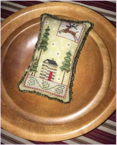 click here to view larger image of Christmas Cabin (counted cross stitch kit)