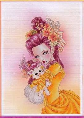 click here to view larger image of Marie Antoinette With A Kitten (chart)
