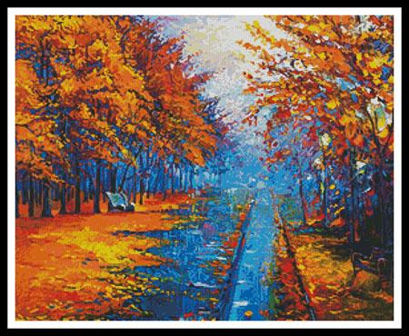 click here to view larger image of Autumn Landscape Painting (chart)