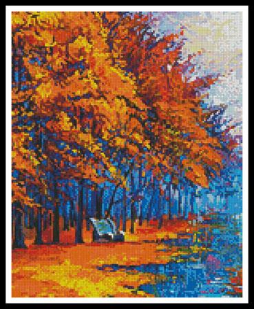 click here to view larger image of Autumn Landscape Painting (Crop) (chart)