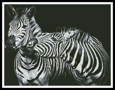 click here to view larger image of Black and White Zebra (chart)
