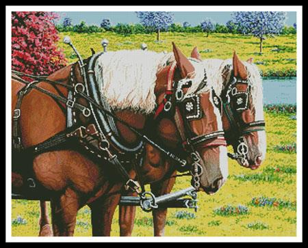 click here to view larger image of Clydesdales in the Meadow (chart)