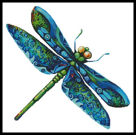 click here to view larger image of Dragonfly Painting (no background) (chart)