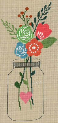 click here to view larger image of Mason Jar Flowers (chart)